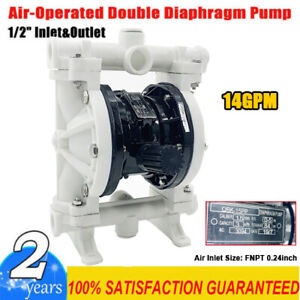 Air operated Double Diaphragm Pump 14gpm 1 2 Inlet Outlet Petroleum Fluids Us