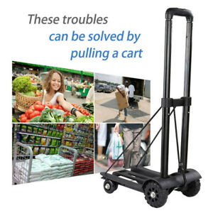 Portable Truck 170lbs Cart Dolly Push Hand Collapsible Trolley Luggage Carts Us