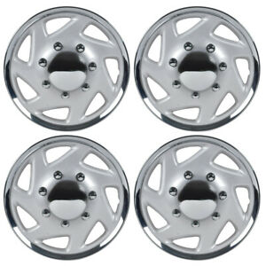 4 Pack 16 Hubcaps For Ford E 150 250 350 Truck Van Lug Style Strong Abs Wheel