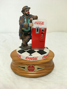 Coca Cola Musical Figurine Featuring Emmett Kelly