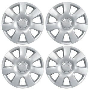 4 Pack Of 15 Abs Silver Hubcaps Wheel Rim Cover Oem Replacement Toyota Corolla