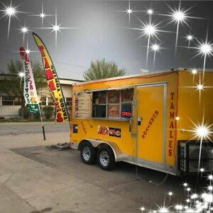 2018 Aluminum 7 X 14 Freedom Food Concession Trailer Clean Mobile Kitchen Fo