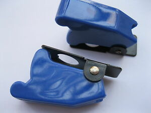 5 Pcs Opaque Blue Color Safety Flip Cover Used For Toggle Switch Use New
