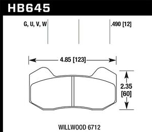 Disc Brake Pad Hawk Perf Hb645g 490