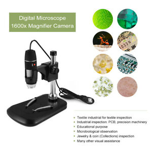 1600x Magnification Electronic Magnifier Handheld Digital Microscope Usb Te894