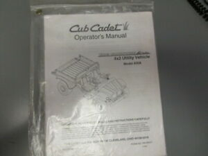 Cub Cadet Operator s Manual 4x2 Utility Vehicle Model Number 430a