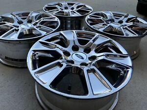 18 Ford F150 Expedition Chrome Factory Wheels Rims 6 Spoke 6 Lug 18 Inch Oem