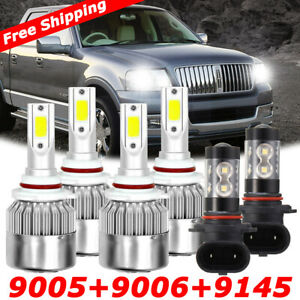 For Ford Expedition Explorer 2003 2006 Headlight Fog Bulbs Led High Low Light