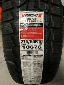 4 New 215 65 16 Uniroyal Tiger Paw Ice Snow Ii Winter Tires