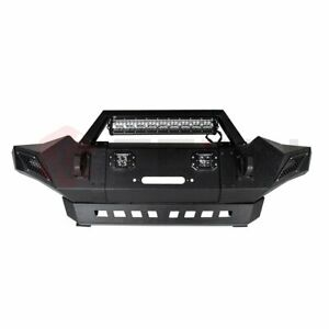 Steel Front Bumper Assembly For 2005 2015 Toyota Tacoma Bright Led Lights
