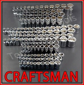 Craftsman 189pc 1 4 3 8 1 2 Dr Sae Metric Mm Ratchet Wrench Socket Set
