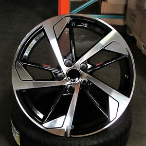 Audi Rs5 Style 19x8 5 5x112 Et35 Black Machined Face Wheels Set Of 4 Rims