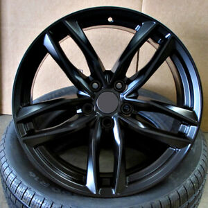 Audi S Line Rs6 Style 20x9 5x112 Et33 Satin Black Wheels Set Of 4 Rims