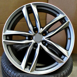 Audi S Line Rs6 Style 19x8 5 5x112 35 Gunmetal Machined Face Wheels Set Of 4