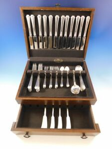 Georgian Colonial Wallace Sterling Silver Flatware Set 12 Service 72 Pc Dinner