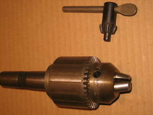 Jacobs Chuck No 3pd With No 3 Morse Taper Arbor And Key 1 8 To 5 8 Cap