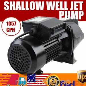 1 Hp Shallow Well Jet Pump Adjustable Pressure Switch 110v Jet Water Pump Usa