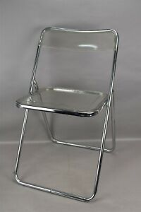 Vintage Mid Century Modern Clear Lucite Folding Chair Italy Gpl