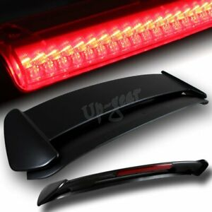 For 1996 2000 Honda Civic Hatchback Black Type R Spoiler Wing Led Brake Light