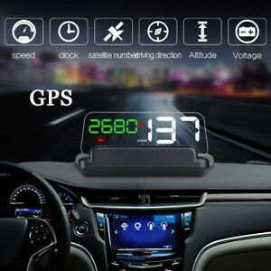 5 Inch Trip Time Clock Mileage Compass Altitude Car Projector Speed Voltage Hud