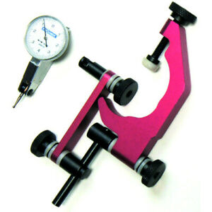Red Premium Mill Quill Clamp Holder And Dial Test Indicator Set Q35k