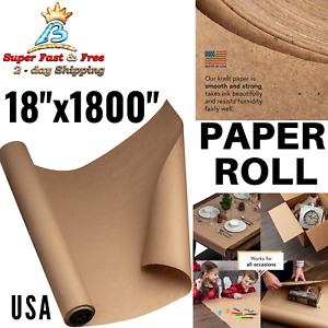 Kraft Paper Roll For Packing Gift Wrap Craft Postal Shipping 40 Brown 150ft Usa