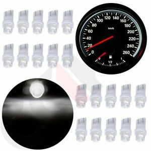 20x White Led Instrument Dash Cluster Gauge Light Lamp T10 168 194 2825 W5w