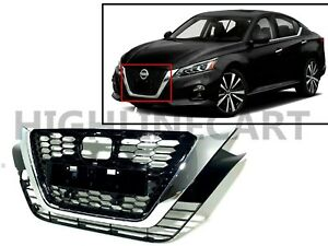 For Nissan Altima 2019 2020 Front Bumper Upper Grille Chrome Grill