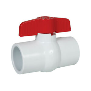 2 White Pvc Ball Valve solvent Ends 260s200