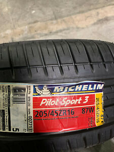 1 New 205 45 16 Michelin Pilot Sport 3 Tire