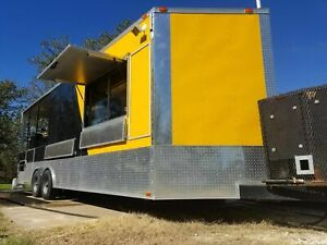 2015 8 5 X 28 Freedom Barbecue Food Concession Trailer used Bbq Pit With Porch