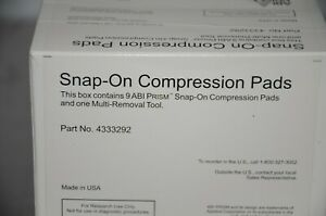 Applied Biosystems 4333292 Prism Snap on Compression Pads 9 case