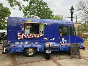 Used 18 Gmc Step Van Snowball Truck And Snowie Shaved Ice Concession Trailer Fo