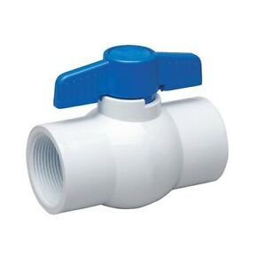 2 White Pvc Ball Valve Nsf Approved Sch 40 threaded Ends 265t200