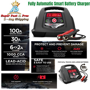 New Fully Automatic Battery Charger Engine Starter Diagnostic Testing 12v 100a