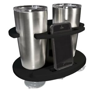 2 Cup Drink Tumbler Cell Phone Holder Poly Fishing Boat Rv Camper Jeep Truck