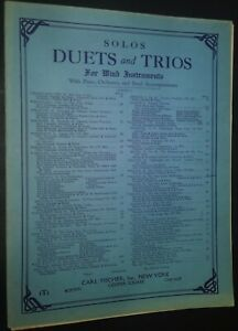 Solos Duets amp; Trios for Wind Instruments Bb Clarinet Sheet Music