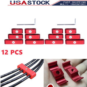 For Sbc 350 Spark Plug Wires Separators Dividers Looms 7mm 8mm 9 5mm Red 12 Pcs
