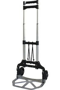 Toolman Folding Hand Truck Aluminum Alloy Portable Luggage Cart 150lb Qth037