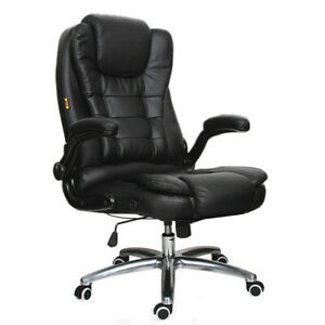 400lbs Big And Tall Heavy Duty High Back Executive Office Chair Leather Computer