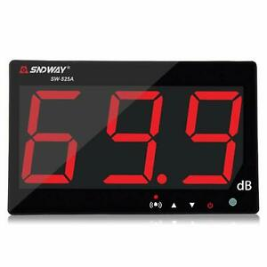 Digital Sound Level Meter W large Lcd Display Noise Decibel Wall Mounted Hanging