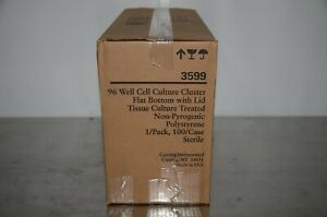 Corning 3599 96 Well Cell Culture Cluster Flat Bottom W lid 100 case