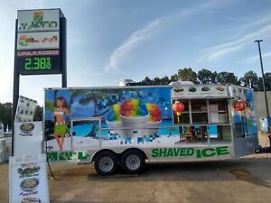 2016 8 5 X 20 Used Freedom Ice Cream Snowball Food Concession Trailer Fo