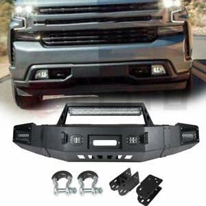 Steel Step Front Bumper Assembly For 2007 2013 Chevy Silverado 1500 Sierra 1500