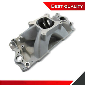 Suit 57 86 Sbc Chevy 350 Tall High Rise Intake Manifold 3000 7500rpm Satin