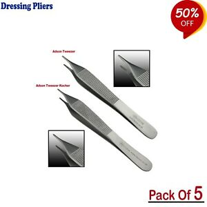 Adson Tissue Forceps Tweezers Serrated Tip Used To Move And Hold Tissues