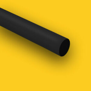 Hdpe high Density Polyethylene Plastic Rod 6 Dia X 24 Length Bar Black Color