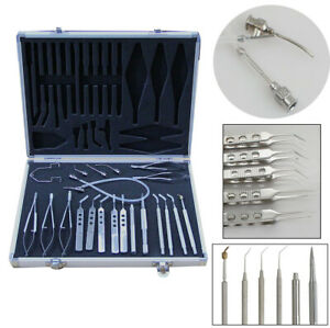 21pcs Ophthalmic Cataract Eye Micro Surgery Surgical Instruments Tool Kit Case