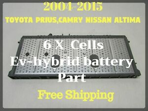 Lot Of 6 Toyota Prius Hybrid Battery Cell Nimh Module 2004 2015