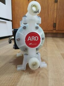 Aro Double Diaphragm Pump Model Pd03p aps ptt 3 8 In Pvdf 10 6 Gpm Preowned